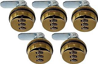 Admiral Locks 组合凸轮锁 Gold Pack of 5 1-1/8 Inch NR90
