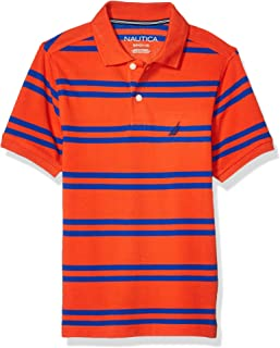 Nautica 诺帝卡男童条纹基本款 Polo 衫