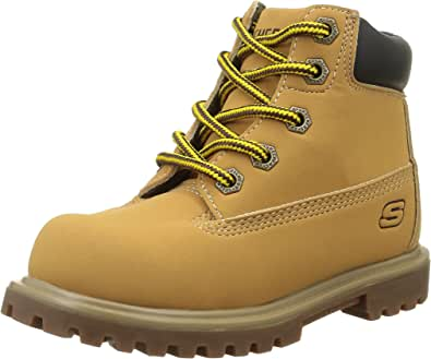 Skechers Mecca 男童及踝靴 Beige (Wheat) 9.5 UK Child