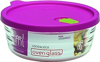 Lock und Lock und 微波炉和烤箱玻璃,粉色,圆形 透明 143 x 143 x 64 mm LLG761