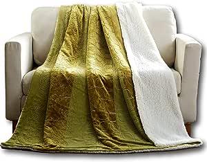 "Tache 浮雕毛毯 橄榄绿 63 x 87"" 62096-63x87"