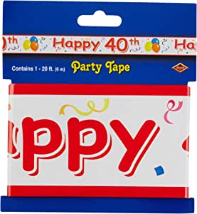 Happy 40th Party Tape Party Accessory (1 count) (1/Pkg)