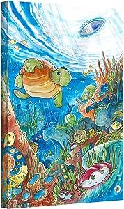 ArtWall Luis Peres 'Coral Dreams Watercolor' Gallery-Wrapped Canvas, 24 by 32-Inch