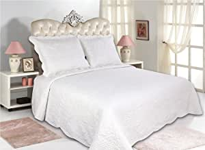 ALL FOR YOU 3 件套双面被套装,床罩-白色 白色 Larger King with king size pillow shams B00QXVPHBW