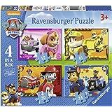 Ravensburger 睿思游戏 7033 Paw Patrol四合一盒装拼图 - 12,16,20和24片装