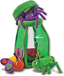 Melissa & Doug 豪华昆虫罐,昆虫玩具可放入或取出,柔软婴儿玩具