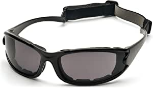Pyramex SB7321DT PMXCEL Sealed Safety Glasses, Gray Polarized Anti-Fog Lens, Black