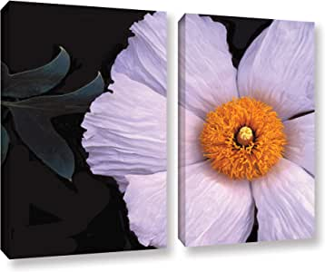 ArtWall Dean Uhlinger 2 Piece Wild Hibiscus Gallery-Wrapped Canvas Set, 18 by 24""