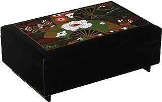 中谷兄弟商会 山中漆器 首饰收纳盒 带八音盒 黑色 -
