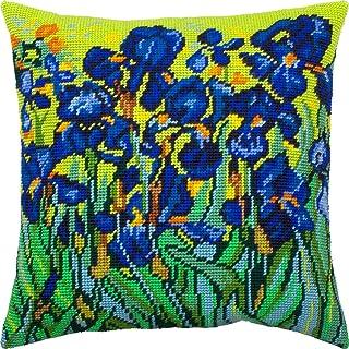 针点套件抱枕 40.64 x 40.64 厘米印花挂毯帆布,欧洲品质 Front side only 16″×16″ (40 cm × 40 cm) V307