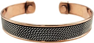 铜质手链用于** - 男式和女式磁性袖口手链 - 自然*非入侵式*缓解关节*、*、RSI 磁*