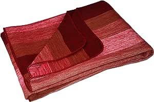 Casa De Alpaca,手工制作厄瓜多尔羊驼毛毯/盖毯 红色条纹