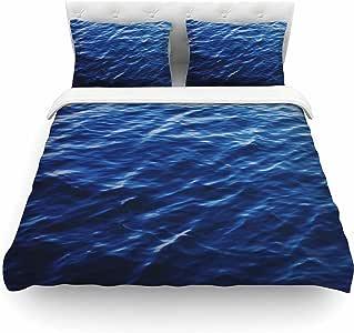 "KESS InHouse Chelsea Victoria""海面加州""羽毛重量中号双人床被套,223.52 x 223.52 厘米"