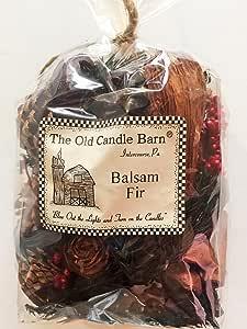 Balsam Fir Potpourri 4 杯包 - 完美的冬季或圣诞装饰或碗填料 - 香味