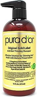 Pura d'or 优质有机坚果油防掉发洗发露(金标),16盎司