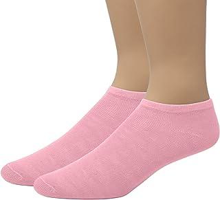 EMEM Apparel 女士纯色隐形低帮袜,2 双装