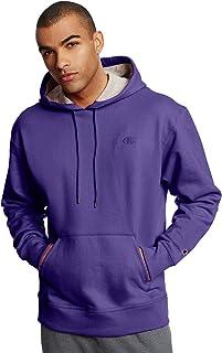 Champion 男士 Powerblend 抓绒连帽卫衣 紫色 XXX-Large
