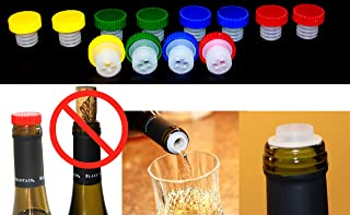 12pc Colorful Slow Wine Pourer Stopper Aerator Saver Slo Vino - Makes a Great Gift For Wine Lovers
