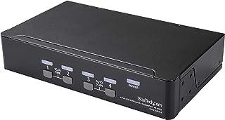 StarTech.com DisplayPort KVM 交换机 - 4 端口 - 4K 60Hz - DisplayPort 1.2 KVM - 计算机交换机盒 - 显示端口开关 - USB KVM 交换机