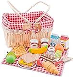 New Classic Toys 10590 - 廚房及食品玩具 - 野餐籃套裝 - 27 件