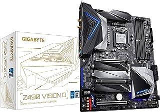 GIGABYTE 技嘉 Z490 Vision D (Intel LGA1200/Z490/ATX/3xM.2/Dual Thunderbolt 3/SATA 6Gb/s/USB 3.2 Gen 2/Intel WiFi 6/Direct 12相数字电源/Intel 2.5G LAN/主板)