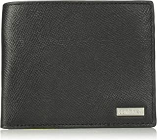Calvin Klein 男式纹理皮革修身钱包,黑色,均码