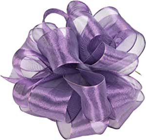Offray Wired Edge Firefly Metallic Sheer Craft Ribbon, 1-1/2-Inch Wide by 15-Yard Spool, Purple