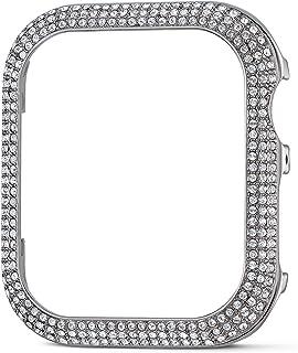 SWAROVSKI 施华洛世奇 40 毫米闪亮表壳兼容苹果手表,银色,40