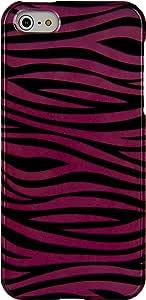 SLectionAccess 两件套,苹果 iPhone 5 卡扣式手机壳 - 零售包装APLCRC672 Pink/Black Zebra