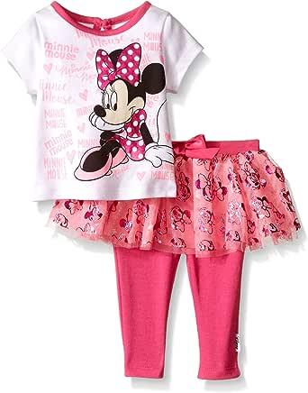 Disney 女童米妮老鼠 2 件套紧身裤套装 Multi/White 0/3 Months