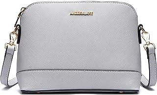 女式斜挎包,轻便钱包和手提包 PU 皮革挎包,配有可调节肩带和金色五金器具