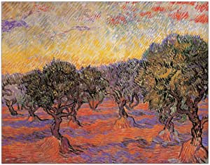 ArtPlaza 橄榄树 (梵高) 装饰板,木质,多色,100 x 1.8 x 78 cm