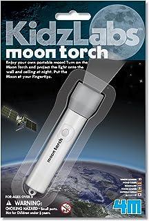4M 3808 KidzLabs 月球手电筒 天文科学STEM玩具 适合儿童,青少年,女孩和男孩的教育礼物