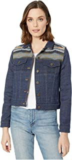 Pendleton 女式 Ryder 羊毛夹克  Crescent Bay Navy Jacquard Medium