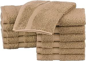 Pinzon 有机棉毛巾(12 件装) 拿铁白 Washcloth 12 - Pack PZOR-LE-12PK