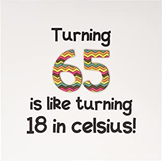 inspirationzstore occasions – Turning 65 IS LIKE Turning 46 cm celsius – 幽默65岁生日礼品 – 贺卡