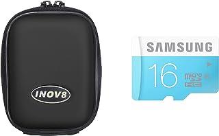 Inov8 紧凑相机套装包括 Inov8 手机壳和三星 16GB 标准 Micro SDHC Class 6 存储卡X-5100-902 硬壳 黑色