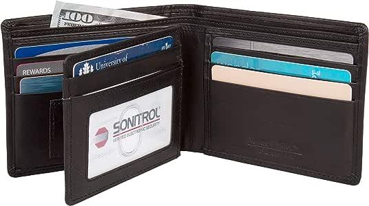 无管理钱包 WALBIFOLDBLK11 矩形带 10 个信用卡插槽,1 个身份证插槽和 1 个微型插槽
