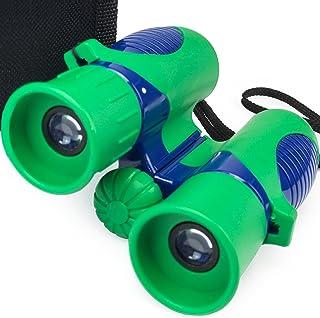 Verb Gear Best 儿童双筒望远镜,*和蓝色,8X21 放大耐用防震紧凑可折叠双筒望远镜套装,适合男孩和女孩