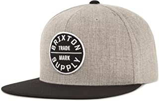 Brixton 男士 Oath III 平檐棒球帽