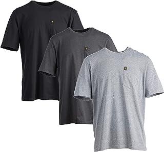 Browning 口袋 T 恤,3 件装优质棉质圆领 T 恤