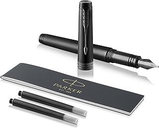 PARKER 派克 1931431 高级钢笔,精细笔尖,带黑色替换墨水 Federstärke M Monochrome Black