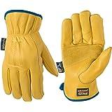 Wells Lamont 男士防水皮革工作手套 采用 HydraHyde 技术 X大码 1168XL
