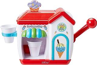 Nuby 冰淇淋店泡泡机,适合 3 岁及以上幼儿的洗澡玩具。 Foam Cone 冰淇淋制造沐浴墙玩具 红色