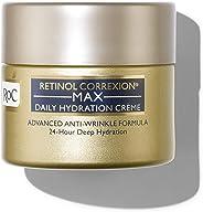 RoC 视黄醇Correxion Max每日保湿抗皱霜,适用于24小时深层保湿,由视黄醇和透明质酸制成的高级抗皱保湿霜,1.7盎司/48克