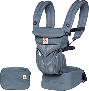 Ergobaby Omni 360 Cool Air Mesh 人体工程学婴儿背带所有携带位置 牛津蓝 Newborn to Toddler