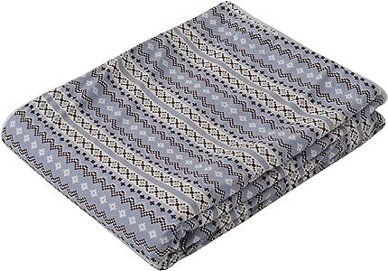 东京西川 保暖被罩 灰色 单人 蓬松法兰绒 冬季条纹款 PI08000076GR