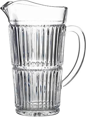 Fifth Avenue 水晶 204603 拉古纳玻璃投手,18.42 x 12.07 x 23.49,透明