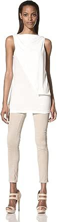 Rick Owens DRKSHDW 女士无袖褶皱上衣 牛奶色 X-Small