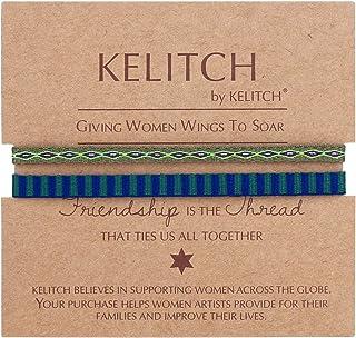 KELITCH 2 件彩色友谊手镯手镯民族袖口腕带 2020